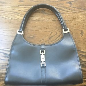 Gucci small black leather handbag